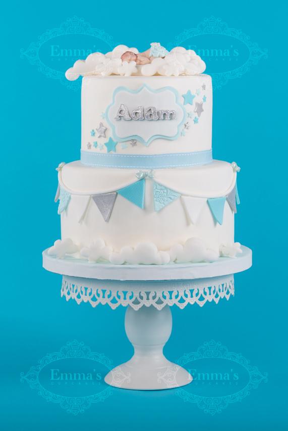 Cake Sleeping Baby Blue - Emma's Cupcakes - Nice