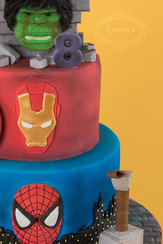 Cake Design Nice Emmas Cupcakes Spider Man Hulk Iron Man Captain