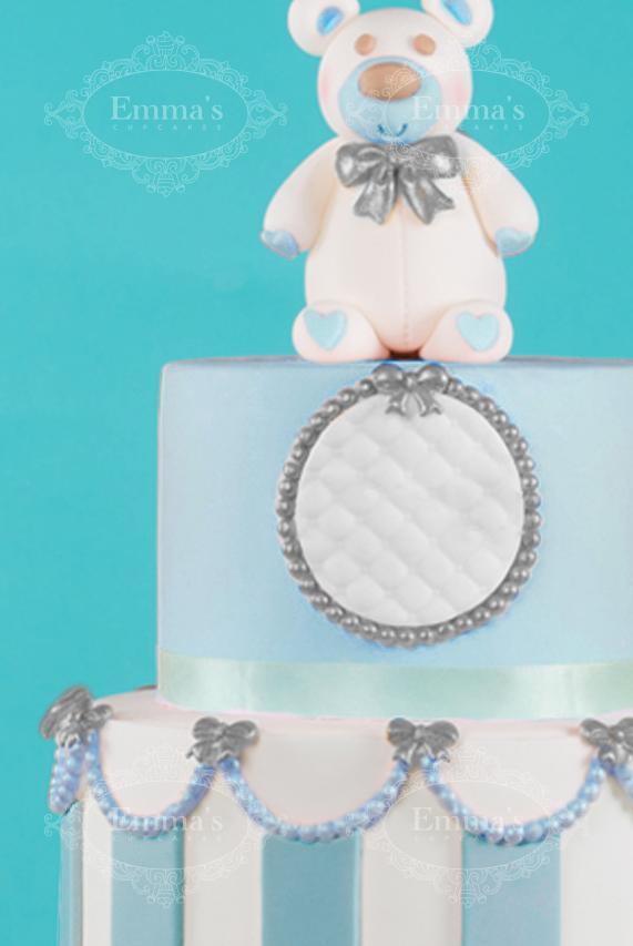 Cake Nounours Blue - Emma's Cupcakes - Nice