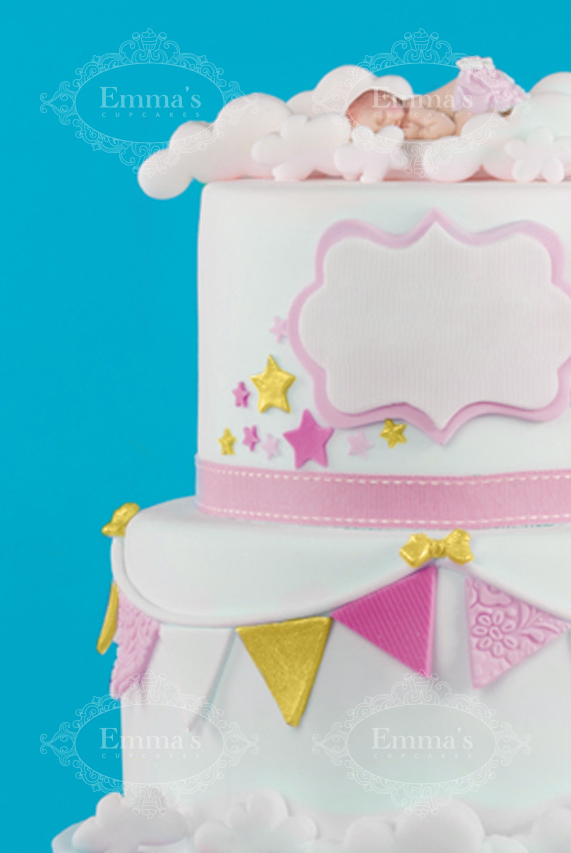 Cake Sleeping Baby Pink - Emma's Cupcakes - Nice